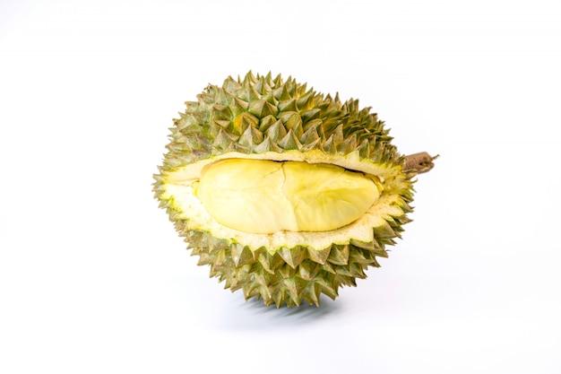 Monthong durian ist die am meisten exportierte frucht in thailand, isoliert auf weiß