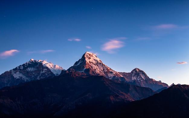 Montierung annapurna-südstrecke von poonhill, nepal.
