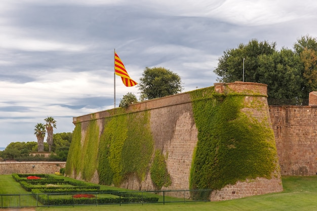 Montjuic hügel in barcelona, katalonien, spanien