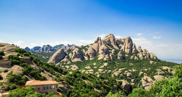 Montserrat-berg, katalonien, barcelona