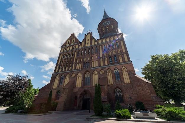 Monument der gotischen art des ziegelsteines in russland