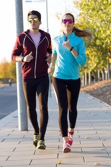 Morgen joggen für zwei