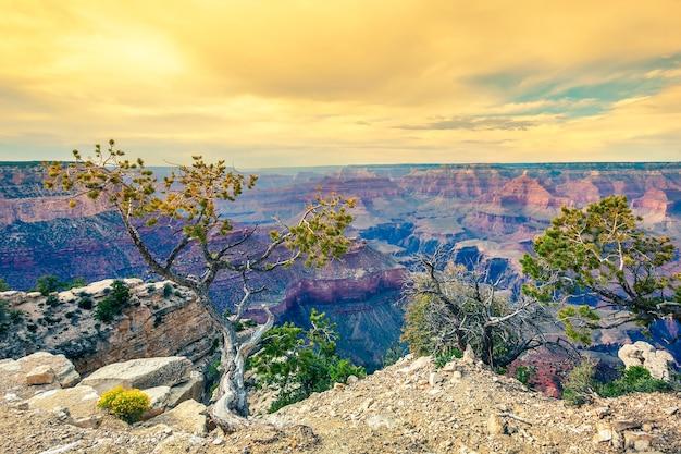 Morgenlicht am grand canyon, arizona, usa