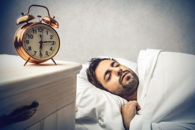 Morgens schlafen