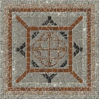 Mosaik aus natürlichem granit. dekorative steinfliesen. , boden und wände. steinhintergrundbeschaffenheit