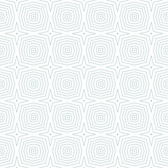 Mosaik nahtlose muster. türkisfarbener symmetrischer kaleidoskophintergrund. nahtloses design des retro-mosaiks. textilfertiger großdruck, bademodenstoff, tapete, verpackung.