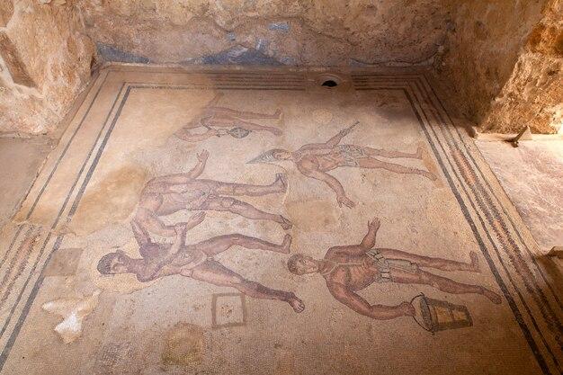 Mosaike der villa romana del casale auf der piazza armerina