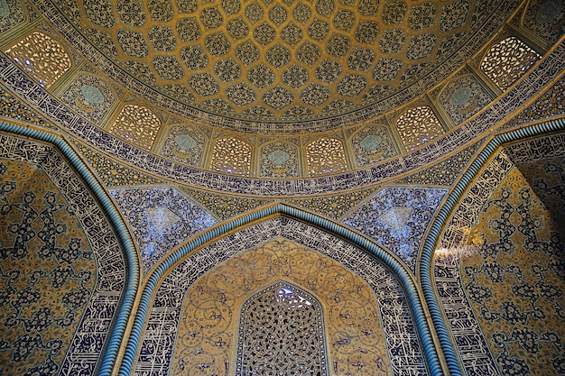 Moschee auf naqsh-e jahan square in isfahan, iran
