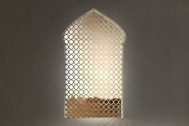 Moscheefenster mit einzigartigem muster