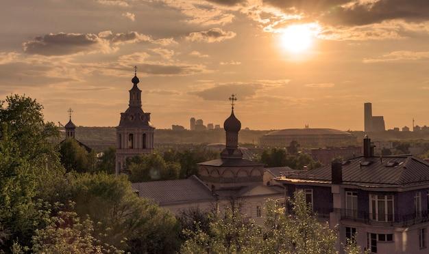 Moskau blick auf die stadt
