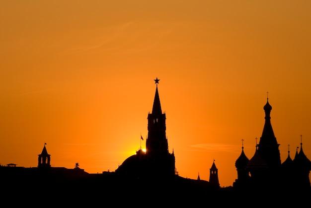 Moskauer sonnenuntergang