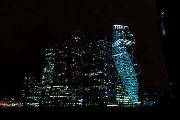 Moskauer stadt bei nacht