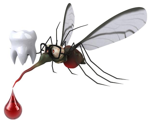 Moskito-3d-illustration