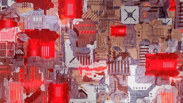 Motherboard nahtlose chipsatz-technologie illustration wallpaper hintergrunddesign