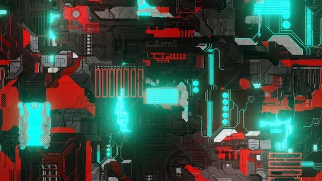 Motherboard nahtlose chipsatz-technologie illustration walpaper hintergrunddesign