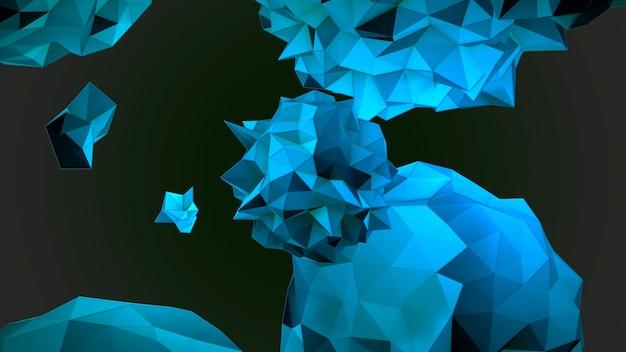 Motion abstrakte blaue flüssige kugel im kosmos, schwarzer hintergrund. eleganter und luxuriöser 3d-illustrationsstil für moderne und kosmische vorlagen