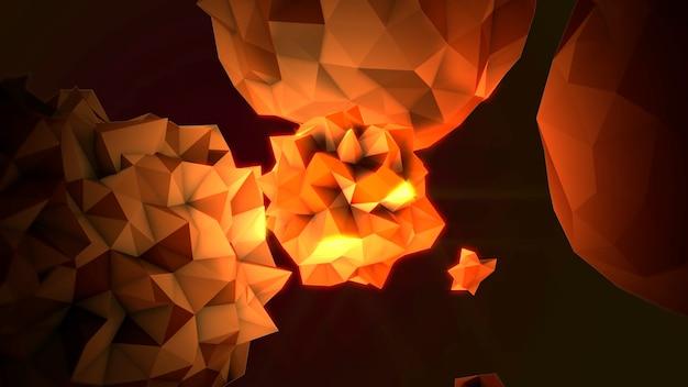 Motion abstrakte gelbe flüssige kugel im kosmos, schwarzer hintergrund. eleganter und luxuriöser 3d-illustrationsstil für moderne und kosmische vorlagen