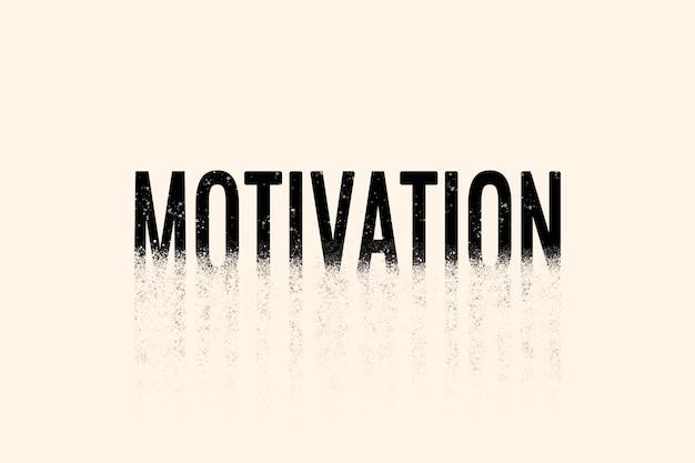 Motivationstypografie in streuschrift