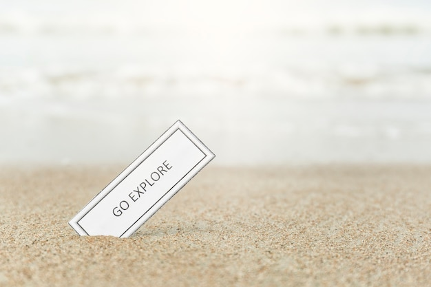 Motivierendes schreiben auf sand