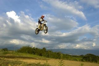 Motocross, gleiten