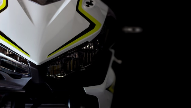 Motorrad bigbike im ausstellungsraum