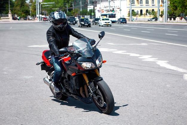 Motorrad fahren auf der straße