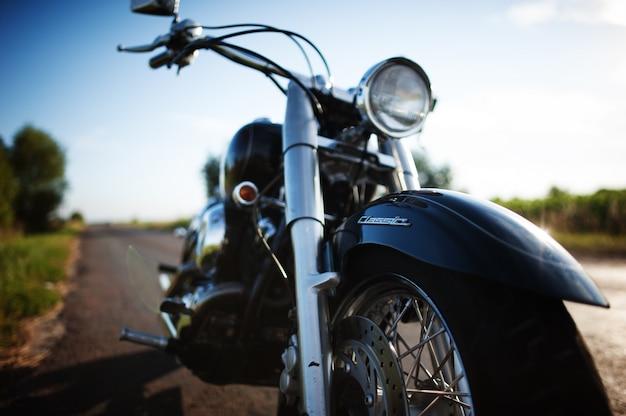 Motorrad gesehen nahaufnahme