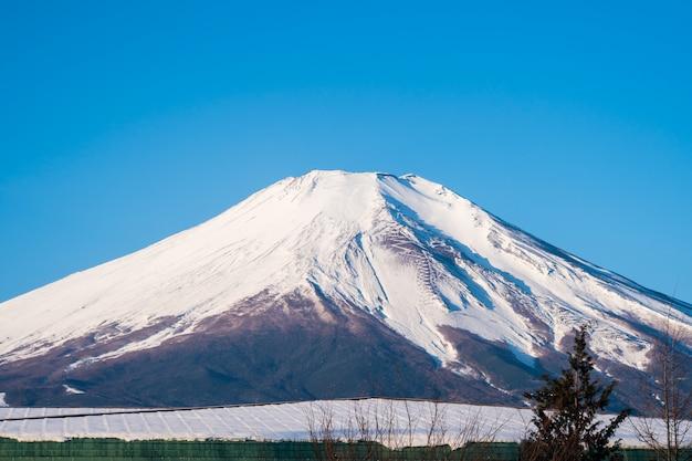 Mount fuji, fujiyama schöne aussicht