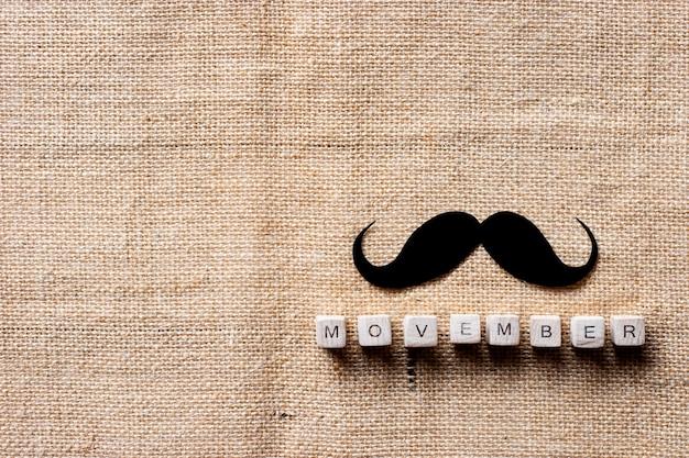 Movember-kampagnenhintergrund, kampagne, um geld an krebspatienten zu spenden.