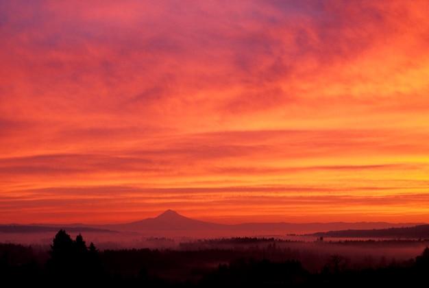 Mt. hauben-sonnenaufgang, oregon
