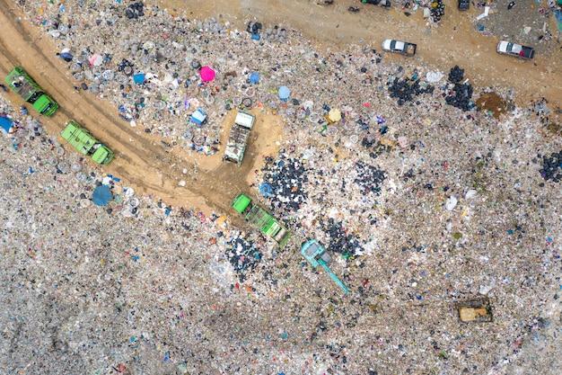 Müll oder abfall berg oder mülldeponie