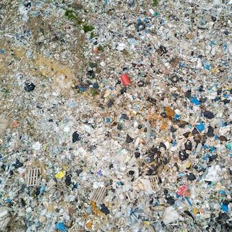 Müllkippe. draufsicht