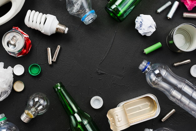 Müllsortiment zur wiederverwendung