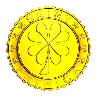 Münze auf leerraum. isolierte 3d-illustration
