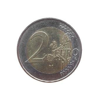 Münze isoliert über weiß