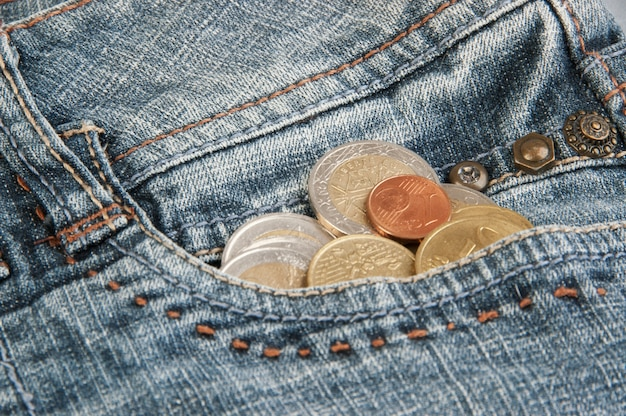 Münzen in der tasche