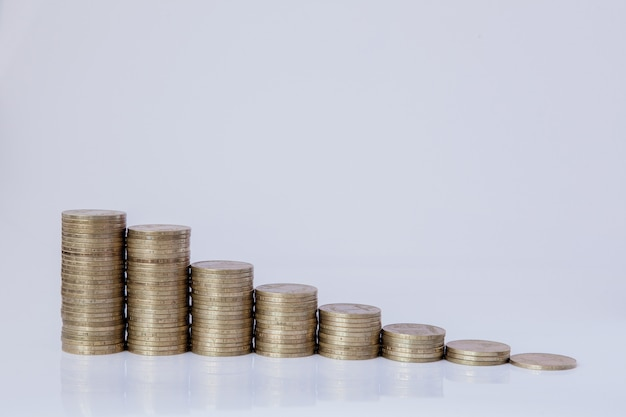Münzen in form eines histogramms