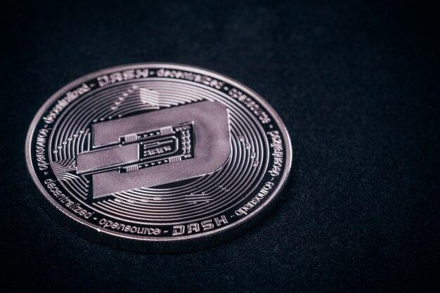 Münzen-schlag nah oben von der kryptowährung