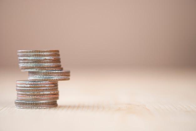 Münzen stapeln