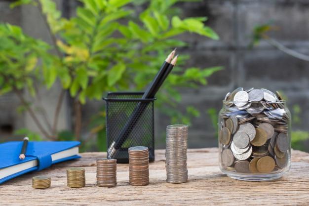 Münzen werden in der zukunft wachsen. studiendarlehen für konzeptfonds investitionen in bildung
