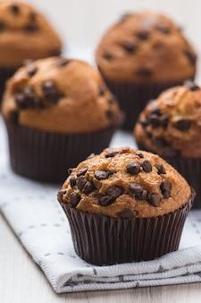 Muffins schließen herauf vertikale