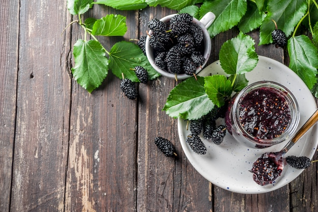 Mulberry chutney oder marmelade