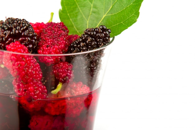 Mulberry saft im glas