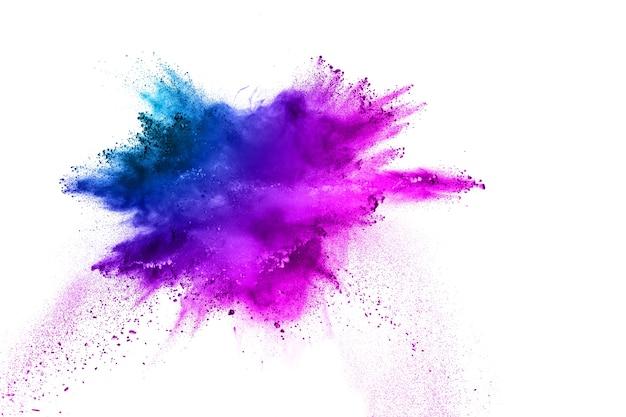 Multi farbe pulver explosion