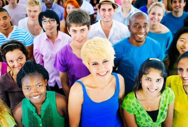 Multiethnische menschenmenge