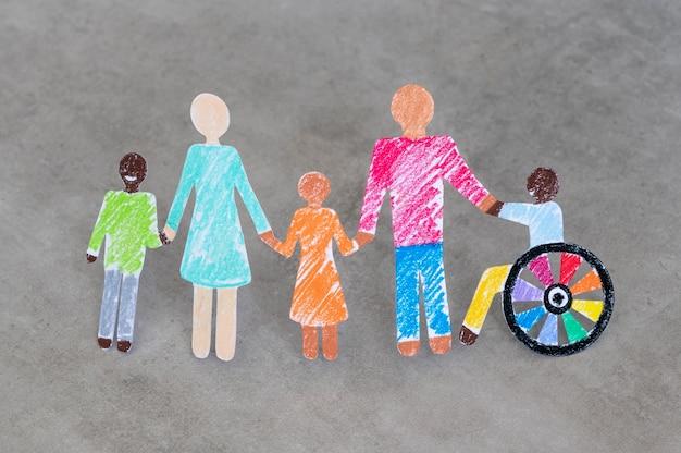 Multiethnische und behinderte menschengemeinschaft