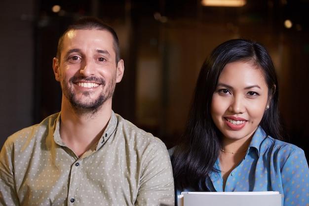 Multiethnisches business-team