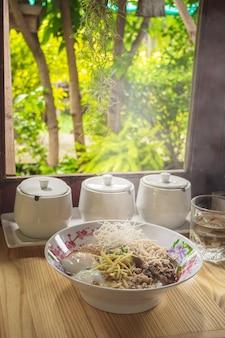 Mush reis gekochter reis thai food breakfas beliebtes asiatisches frühstück
