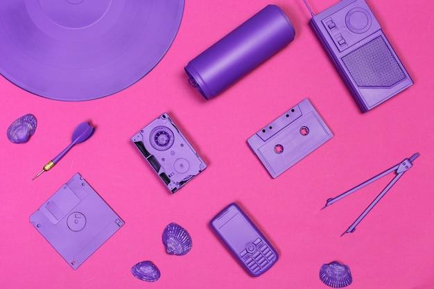 Musik flach lag objekte