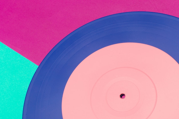 Musik flach legen vinyl hintergrund